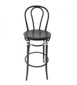 Bar Chair With Round Back Black