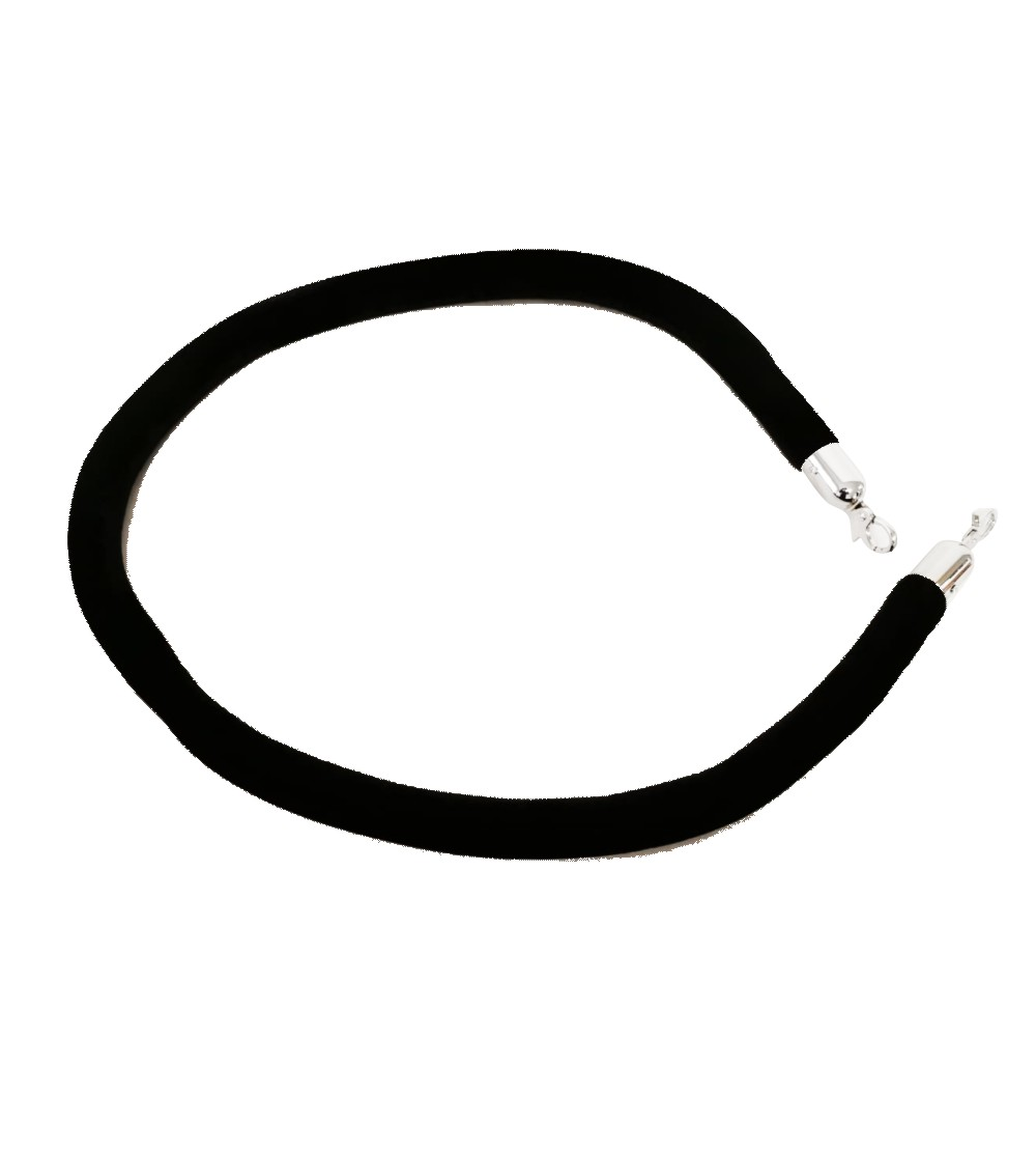Black Velvet Rope With Silver Clasp