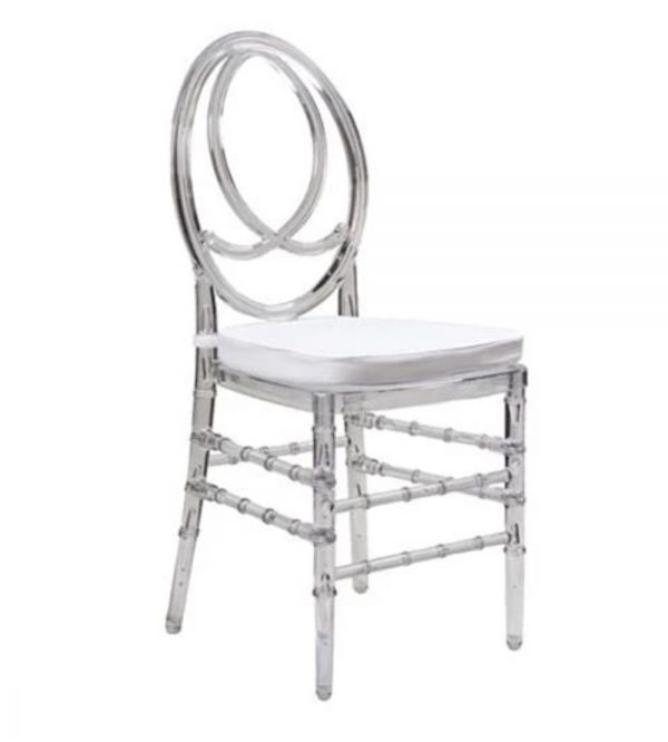 Clear Phoenix Chair With Cushion