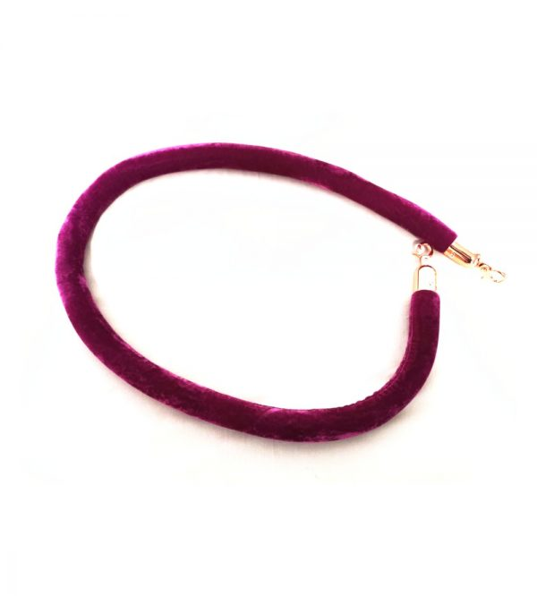 Purple Velvet Rope With Rose Gold Clasp