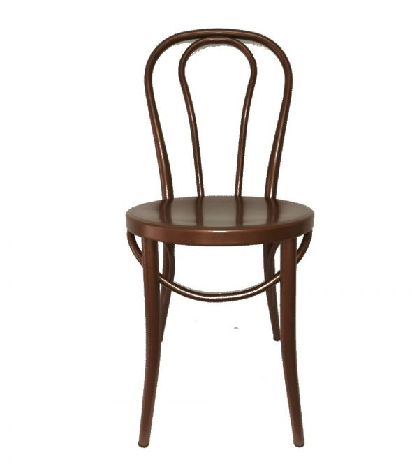 Metal Round Back Chair- Brown Colour