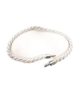 Silver Twisted Rope With Silver Clasp