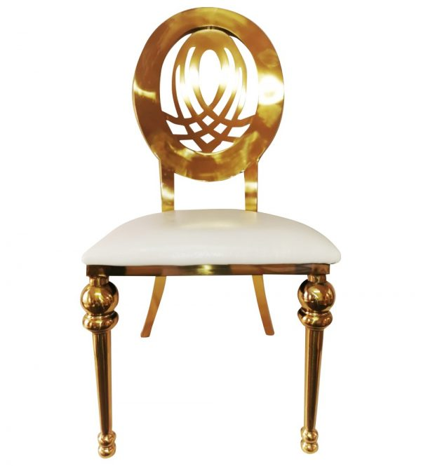 Stainless Steel His & Her Chair Gold