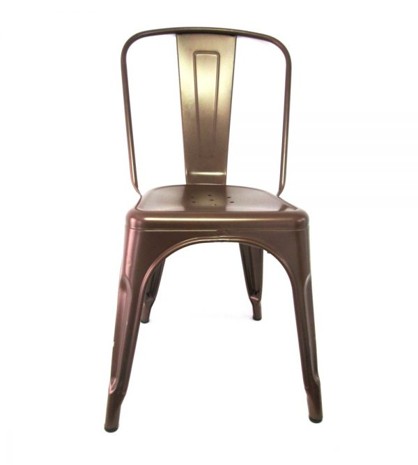 Tolix Metal Cafe Chair Copper