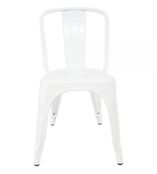 Tolix Metal Cafe Chair White