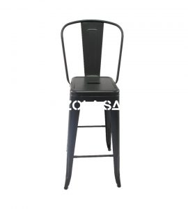 Tolix  Bar Chair With High Back Black