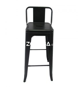 Tolix Bar Chair With Low Back Black