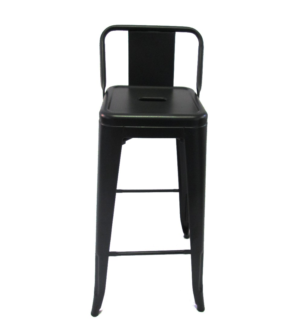 Tolix Metal Bar Chair With Low Back Black