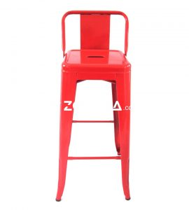 Tolix  Bar Chair With Low Back Red