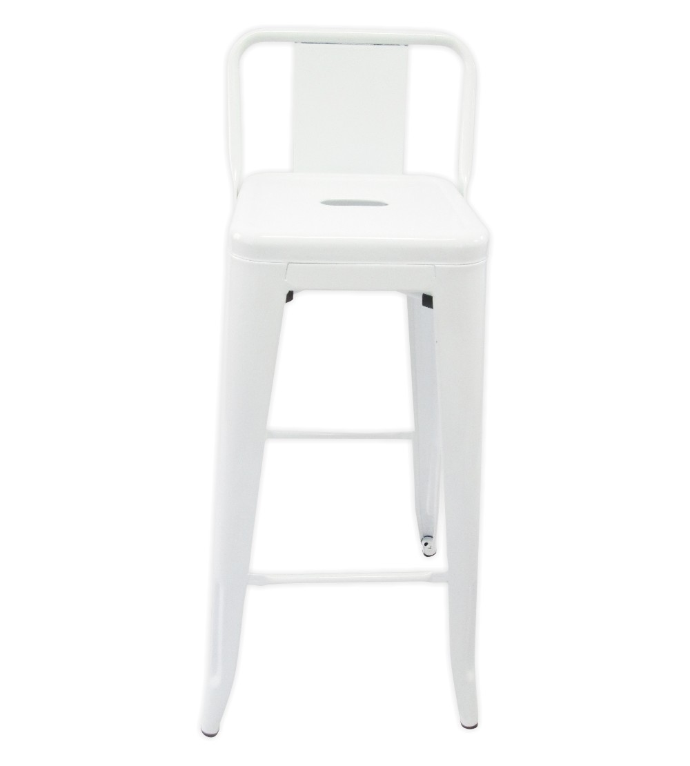 Tolix  Bar Chair With Low Back White