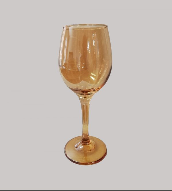 Wine Glass  Amber