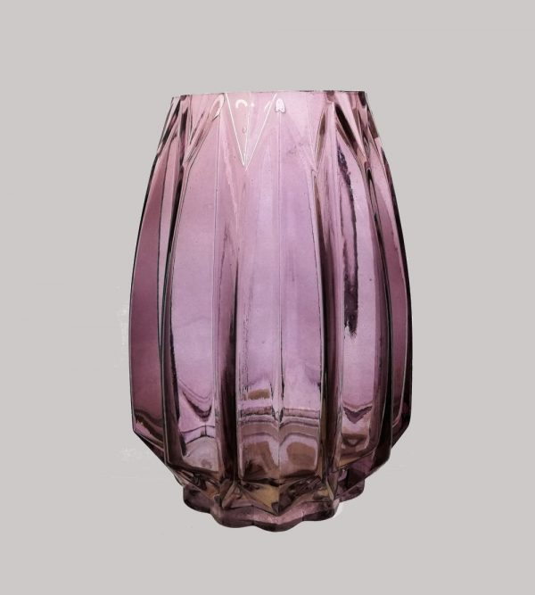 Glass Vase Purple 14Cm X 20Cm