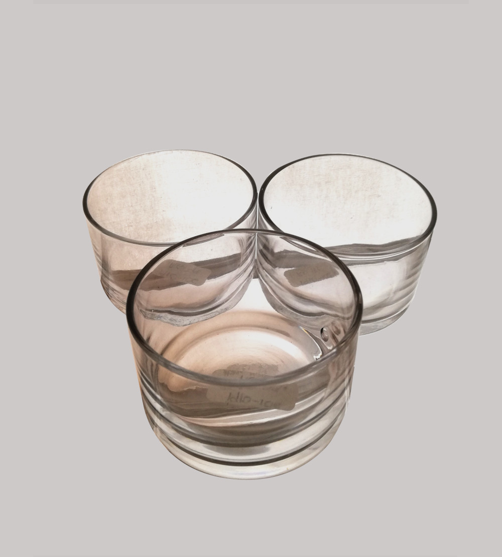 Glass Candle Holder 7Cm X 5Cm