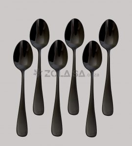 Stainless Steel Black Table Spoon 6Pc/Pack