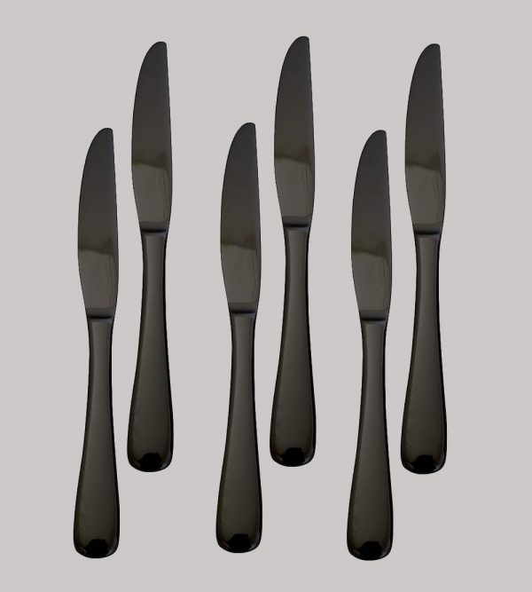 Stainless Steel Black Knife 6Pc/Pack