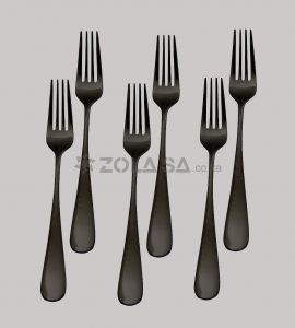 Stainless Steel Black Fork 6Pcs/Pack