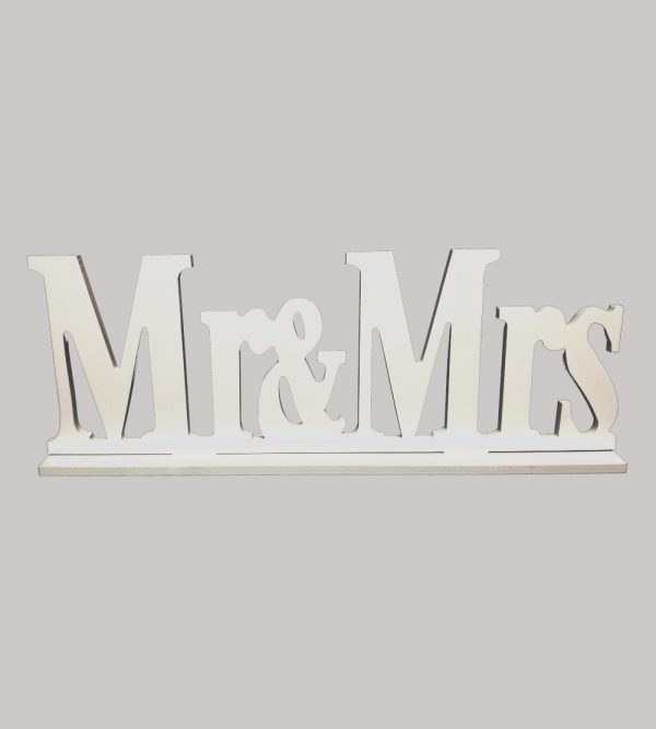 Mr & Mrs Letters 40Cm X 15Cm