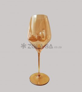 Wine Glass Amber Colour