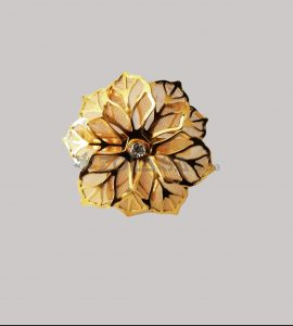 Flower Napkin Ring Gold Colour