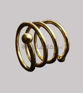 Spring Napkin Ring Gold Colour