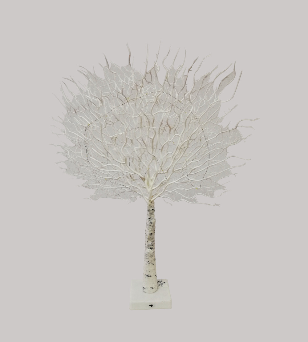 White Tree Ornament Battery Operated With Led Light