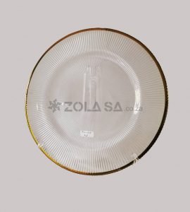 Glass Underplate With Gold Rim