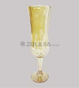 Vintage Champagne Glass Amber