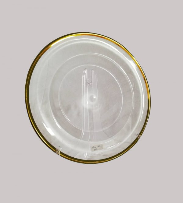 Glass Clear Underplate With Gold Rim