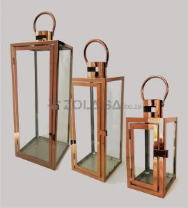 3Pc Lantern Rose Gold