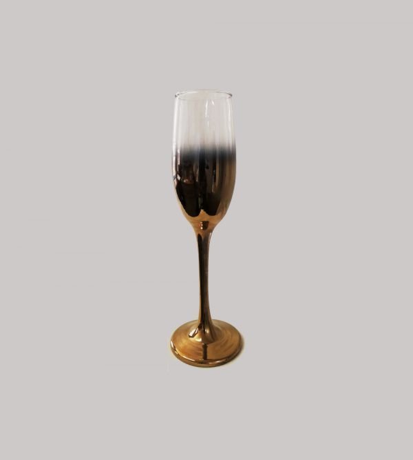 Champagne Glass  Gold Gradiant Colour