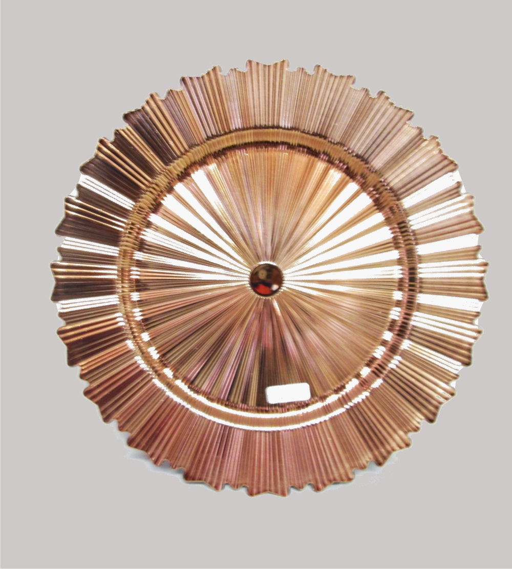 Plastic Radiant Underplate  Rose Gold Colour