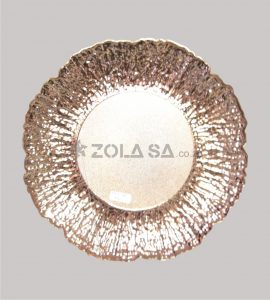 Plastic Flower Pattern Underplate Rose Gold