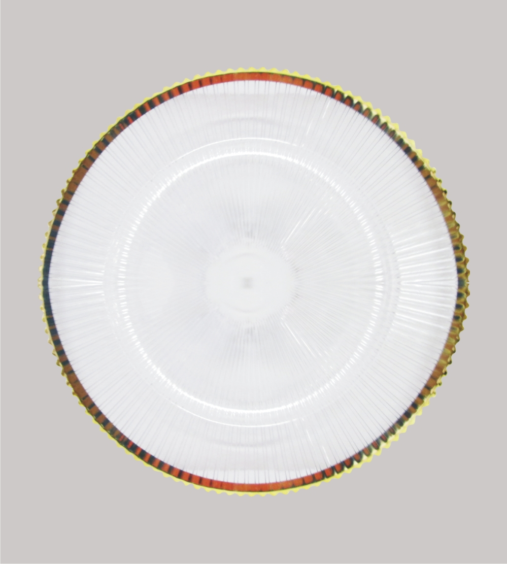 Plastic Clear Underplate With Gold Rim