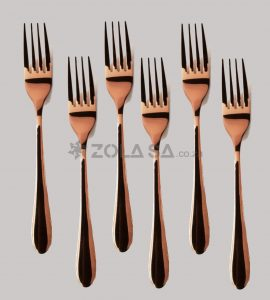Stainless Steel Rose Gold Fork 6Pcs/Pack