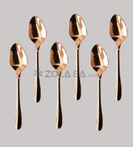 Stainless Steel Rose Gold Tea Spoon 6Pc/Pack