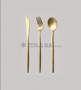Stainless Steel Gold Portugal 3Pc Cutlery Set