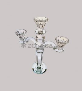 Crystal 3 Arms Candle Holder