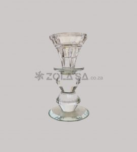 Crystal Candle Holder 13Cm H