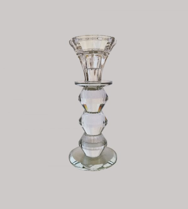 Crystal  Candle Holder  17Cm H