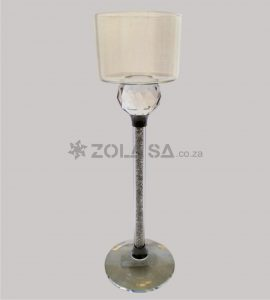 Crystal Candle Holder 21Cm H