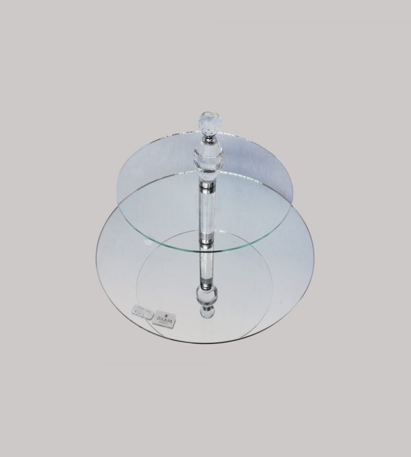 2 Tier Glass Cake Stand