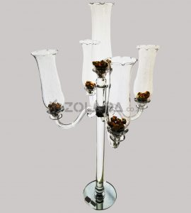 5 Arms Glass Candle Holder