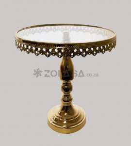 Gold Cake Stand With Glass Top