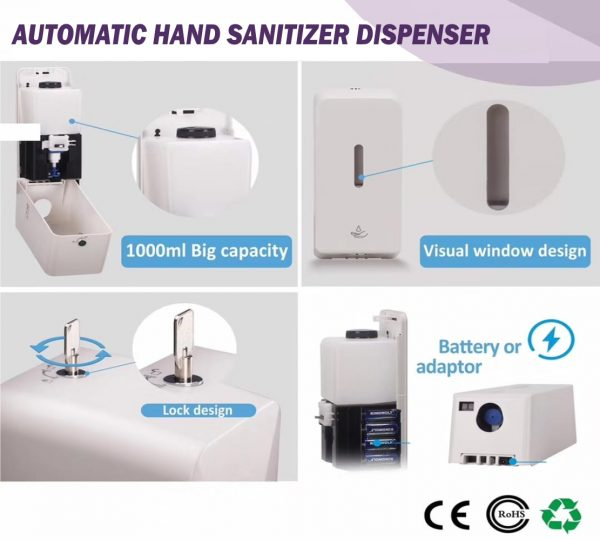 Hand Sanitizer Stand With Sign