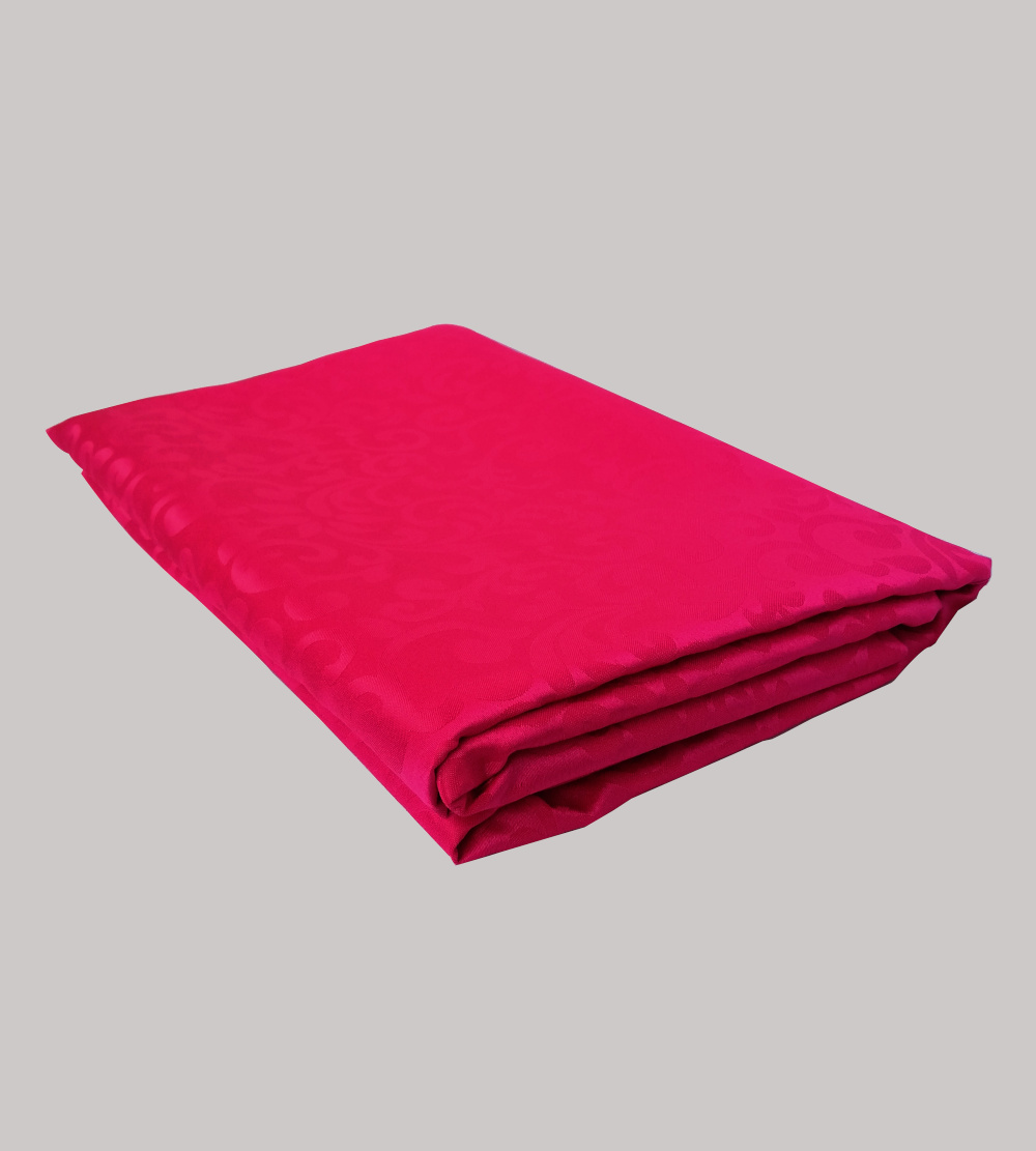 3.2m is for 1.8m diameter round table cloth magenta with pattern