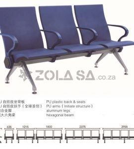 3 Seater Airport & Hospital Chair -PU Seat