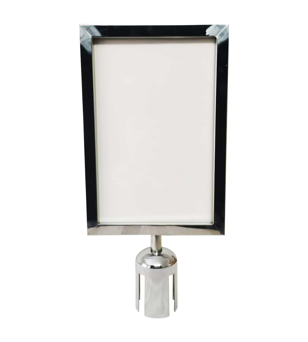 Portrait Poster Frame-A4 Size( For Queue Barriers)