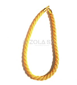 Braided Stanchion Gold Rope-Gold Clasps
