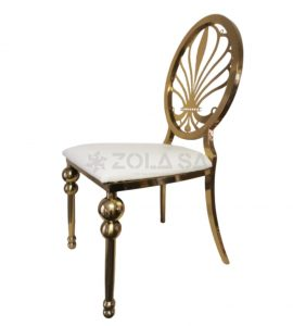 His And Hers Chair With Pattern Gold