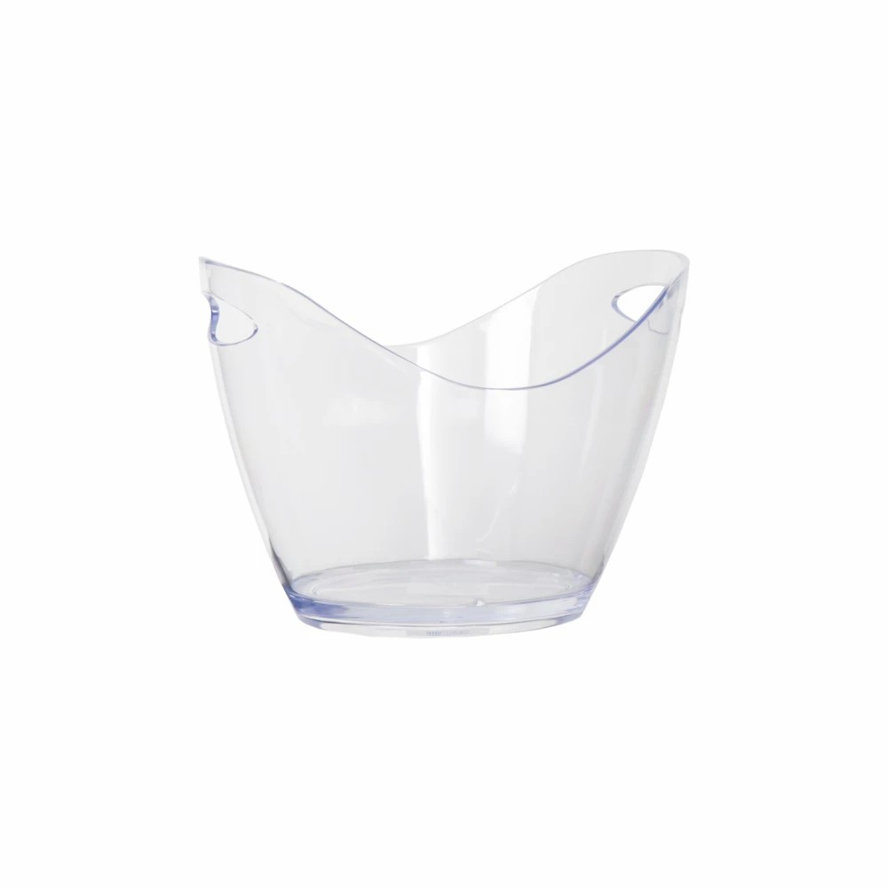 Ice Bucket Oval Plastic Clear-4L